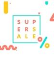 Super sale web shop discount banner vector image