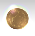 Golden social currency concept vector image vector image