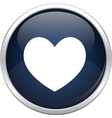 Blue heart icon vector image vector image