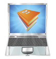 books icon laptop concept vector image vector image