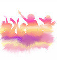 watercolour party crowd vector image vector image