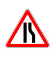 road sign warning restriction right side road on vector image vector image