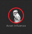 avian influenza logo icon vector image