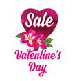 Valentines Day saleTypography vector image