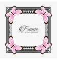 frame vintage design vector image