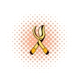 Scissors garden comics icon vector image