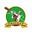 vintage cricket emblem vector image