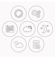 Weather sun and cloudy icons vector image