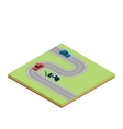 Isometric road tile vector image vector image