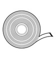 duct tape icon outline style vector image
