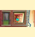 house facade element cartoon vector image