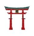 Japanese pagoda temple vector image