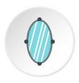 mirror icon circle vector image