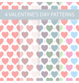 Seamless Valentines day patterns vector image