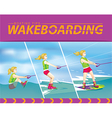 wakeboarding start in water vector image