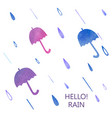 watercolor umbrella set vector image