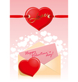 Valentine Hart Love vector image vector image