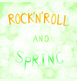 inscription rock n roll and vector image