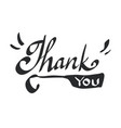 thank you calligraphy isolated on white background vector image