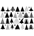 Set of different Christmas trees vector image vector image