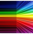 Abstract rainbow warped stripes background vector image