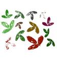 leaf elements vector image vector image