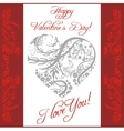 Valentines day vintage lettering background - vector image vector image