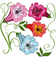 colorful flowers on white vector image vector image