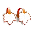 Maple leaves advertising wobblers vector
