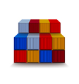 Containers isolated on white vector image