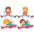 Girls stretching her legs vector image vector image