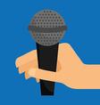 microphone sound design vector image