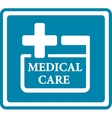 blue medical icon for medicine industry vector image