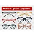 glasses transparent set vector image