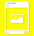live chat snap steack mobile app media frame vector image