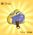 mr snail with mouse vector image