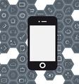 Set mobile web vector image