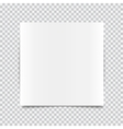 transparent realistic paper shadow effects vector image