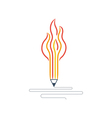 Writing skills development painting class icon vector image
