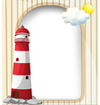 A lighthouse and the empty template vector image