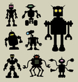 Robot Silhouettes vector image