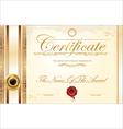 Luxury certificate template vector image