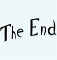 The End symbol vector image vector image