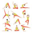 yoga Yoga set Women yoga vector image