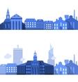 European Landscape Lines with Flat City Elements vector image vector image
