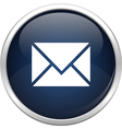 Blue mail icon vector image