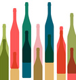Bottles color vector image