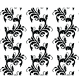 Classic style floral ornament pattern vector image