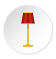 floor lamp icon circle vector image