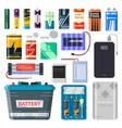 lithium batteries set vector image